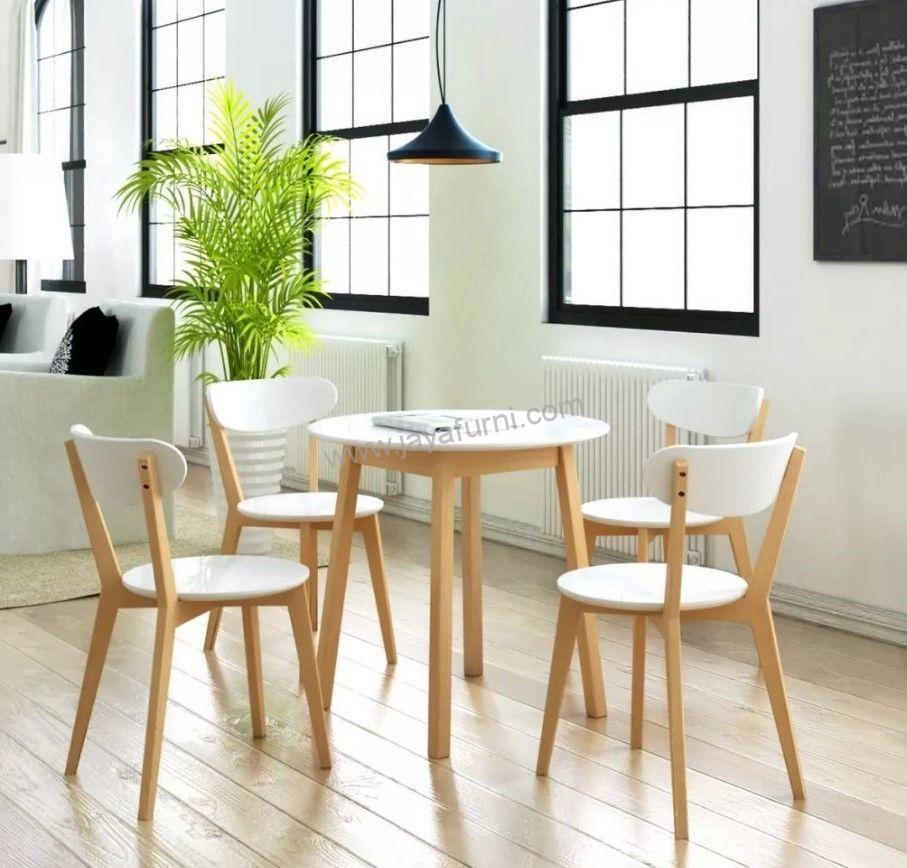 Set Kursi Dan Meja Makan Scandinavian 4 Kursi. kursi makan, kursi makan scandinavian