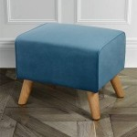 Stool Cafe Klassik Velvet Blue